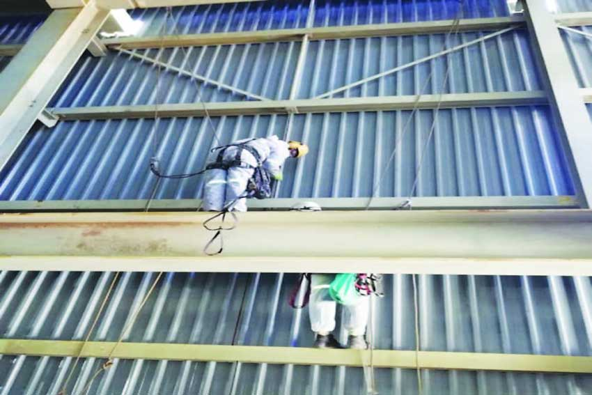 Rope access used for maintenance